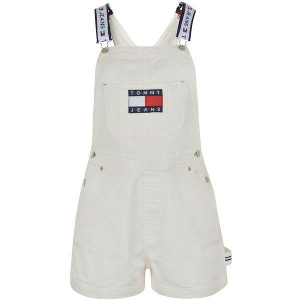 despeje hermoso estilo rebajas outlet TOMMY JEANS Denim Dungaree Shorts (200 CAD) ❤ liked on ...