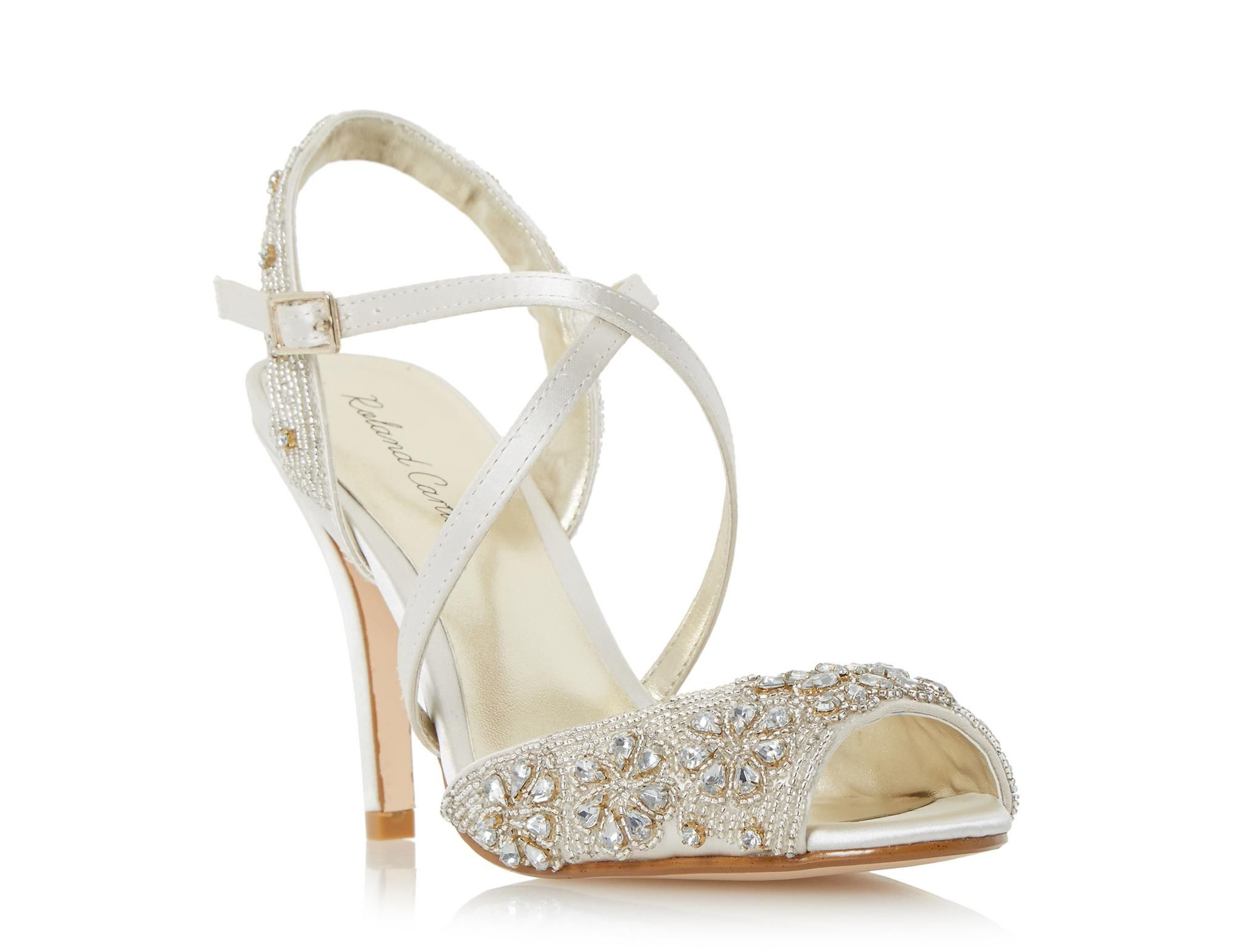ROLAND CARTIER Ladies MINTORY Embellished Cross Strap High Heel ...