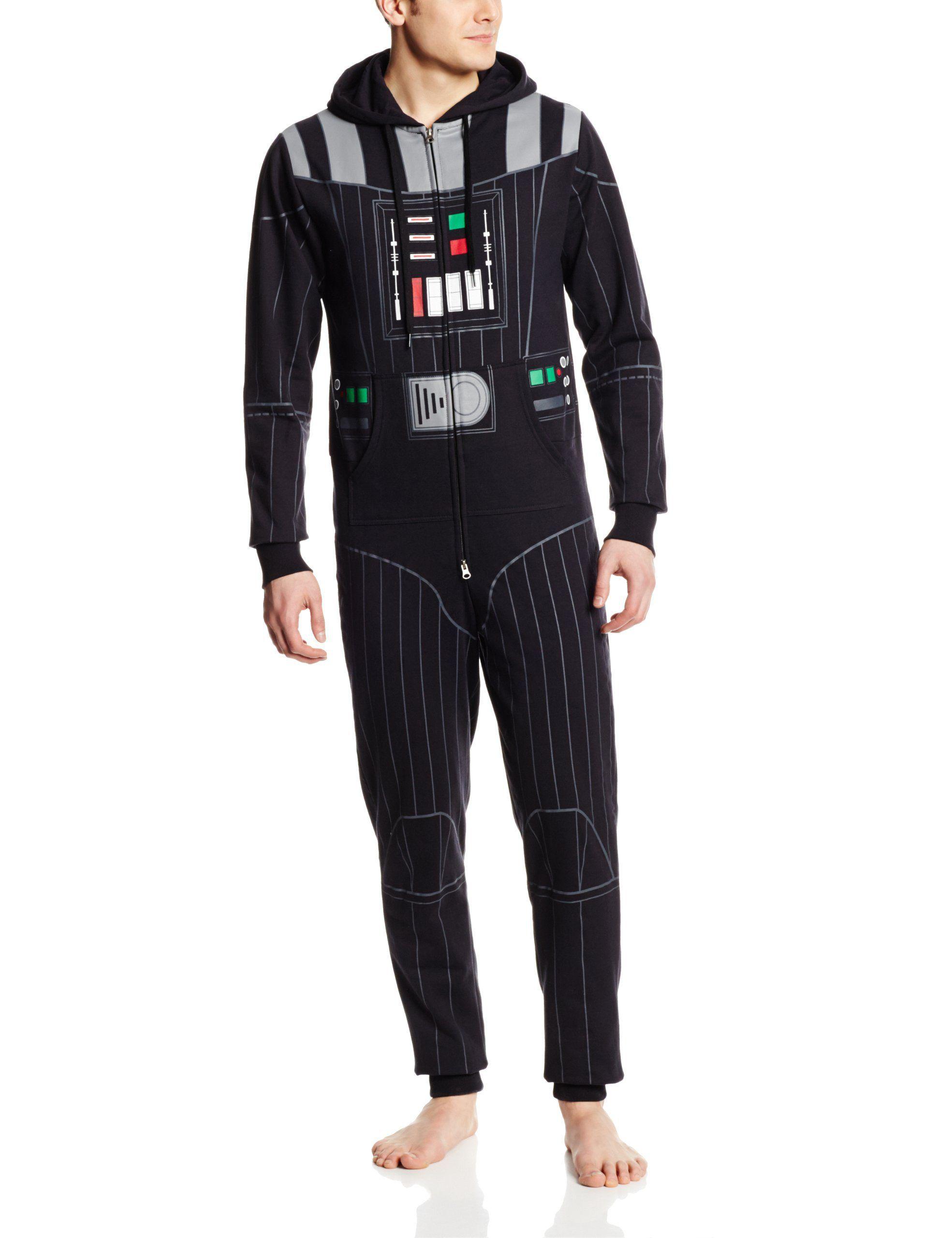 Darth Vader Star Wars Men's Onesie One Piece Pajamas cosplay ...