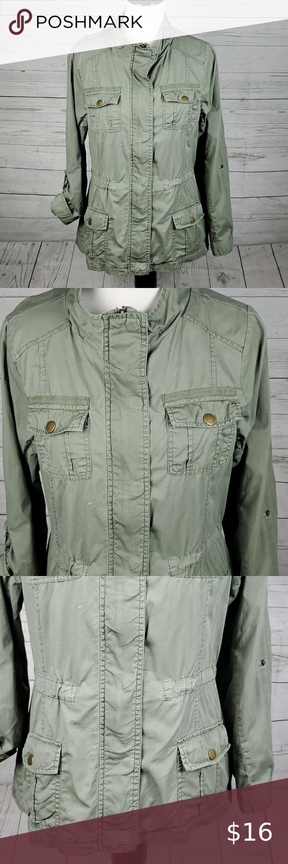 Ashley By 26 International Outerwear Green Jacket Women Vintage Denim Clothes Design [ 1740 x 580 Pixel ]