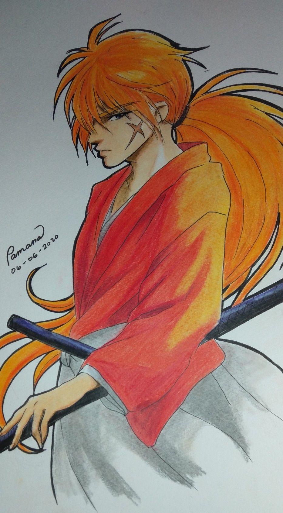 Rorouni Kenshin In 2020 Drawing Anime Hands Anime Tutorial Drawings