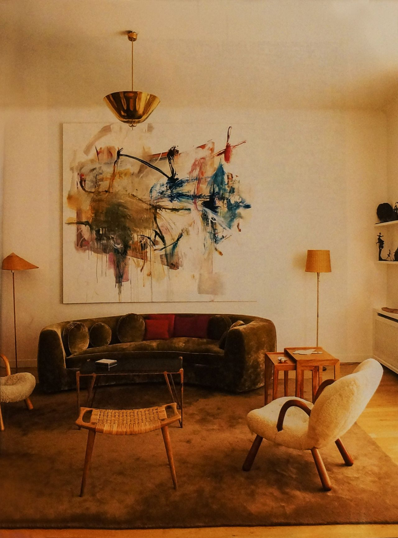 Scandinavian Collectors The Paris Apartment Of Gallery Owners Samia Saouma World Of Interiors Chandelier In Living Room Art Deco Interior