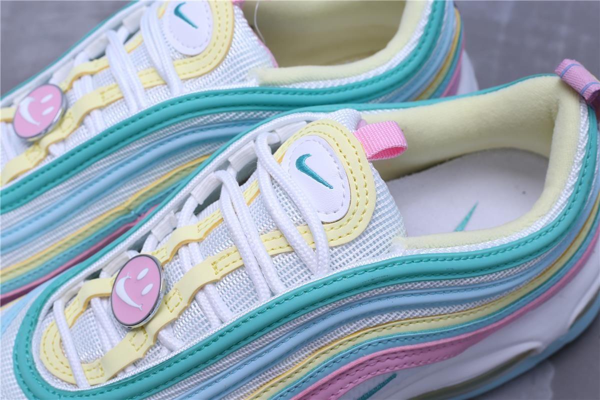 Women Nike Air Max 97 Pink-Blue-Yellow