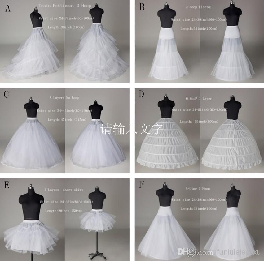 Wedding Accessories Jupon Mariage Stock A Line Black White Trailing Petticoat High Quality Underskirt Elegant Enaguas Para El Vestido De Boda