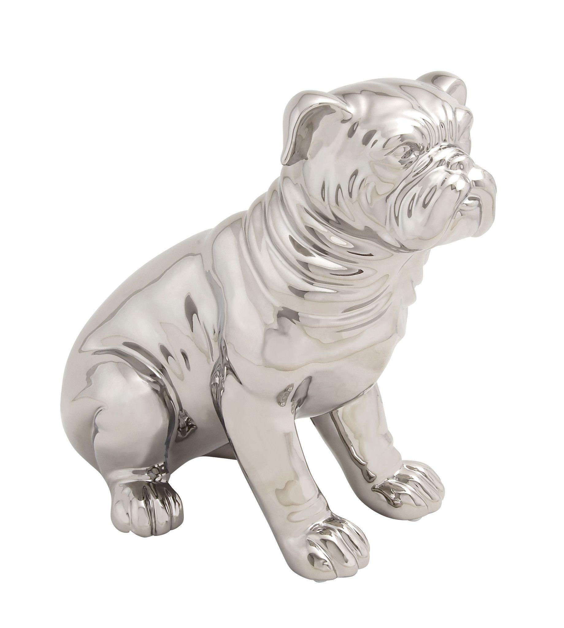 Lovable Ceramic Dog Sculpture