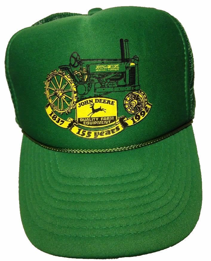 84edacdf730f2d John Deere Hat -155 Years 1837 - 1992, 25 Year Old Vintage Snapback Trucker  Cap #JohnDeere #TruckerHat