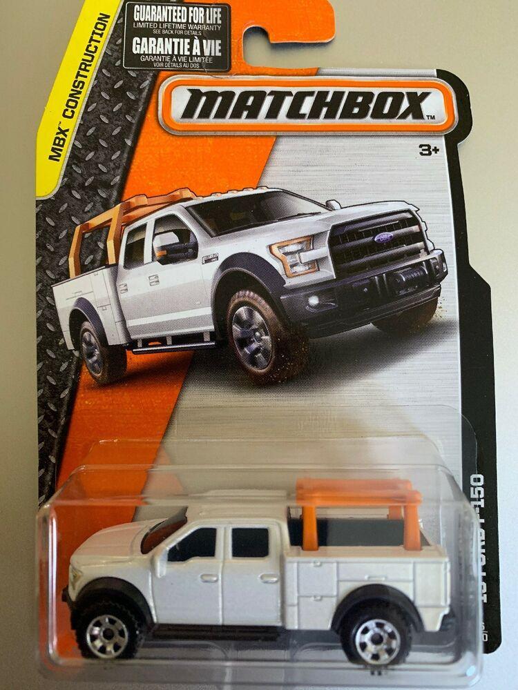 Matchbox 26 2015 Ford F 150 White Pick Up Truck Mbx Construction Ebay Matchbox Ford F150 Toy Car