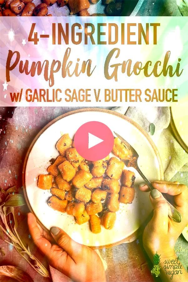how to make this 4ingredient vegan pumpkin gnocchi with less than an hour  Learn how to make this 4ingredient vegan pumpkin gnocchi with less than an hour   One Pot Buffa...