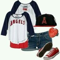 Angel baseballs outfit. G;)