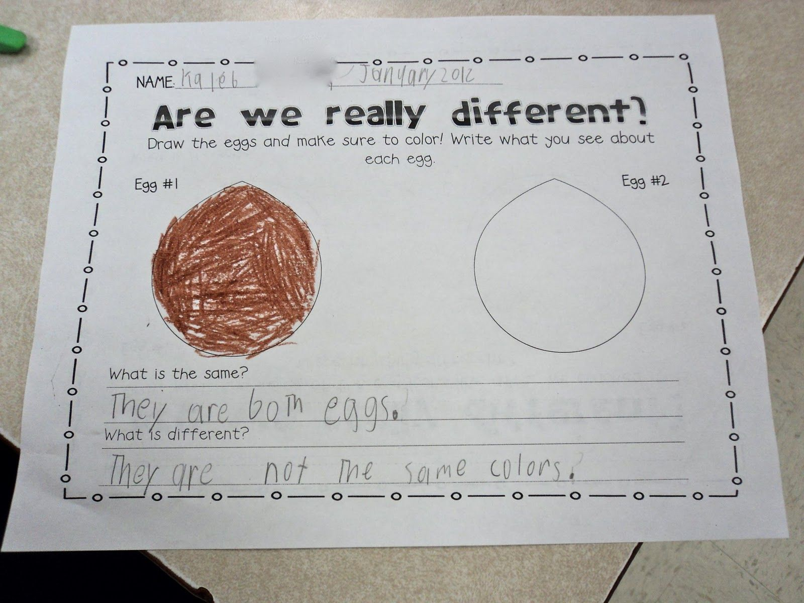 Worksheet To Go With Martin Luther King Egg Demonstration