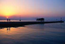 Il tramonto a Rimini