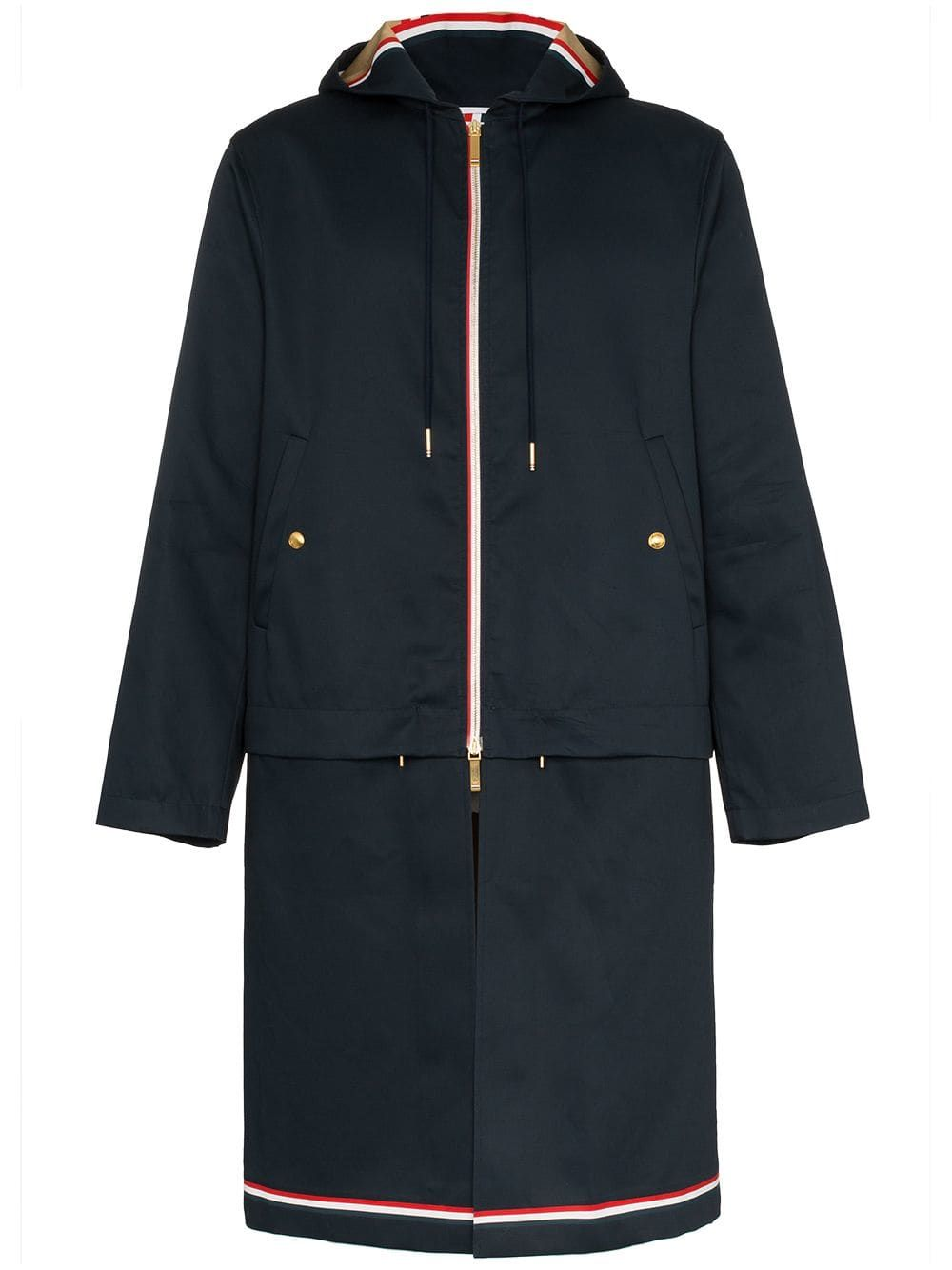 3f0c8452a04 THOM BROWNE THOM BROWNE THOM B DTCHBL HDDED PARKA NVY - BLUE.  thombrowne