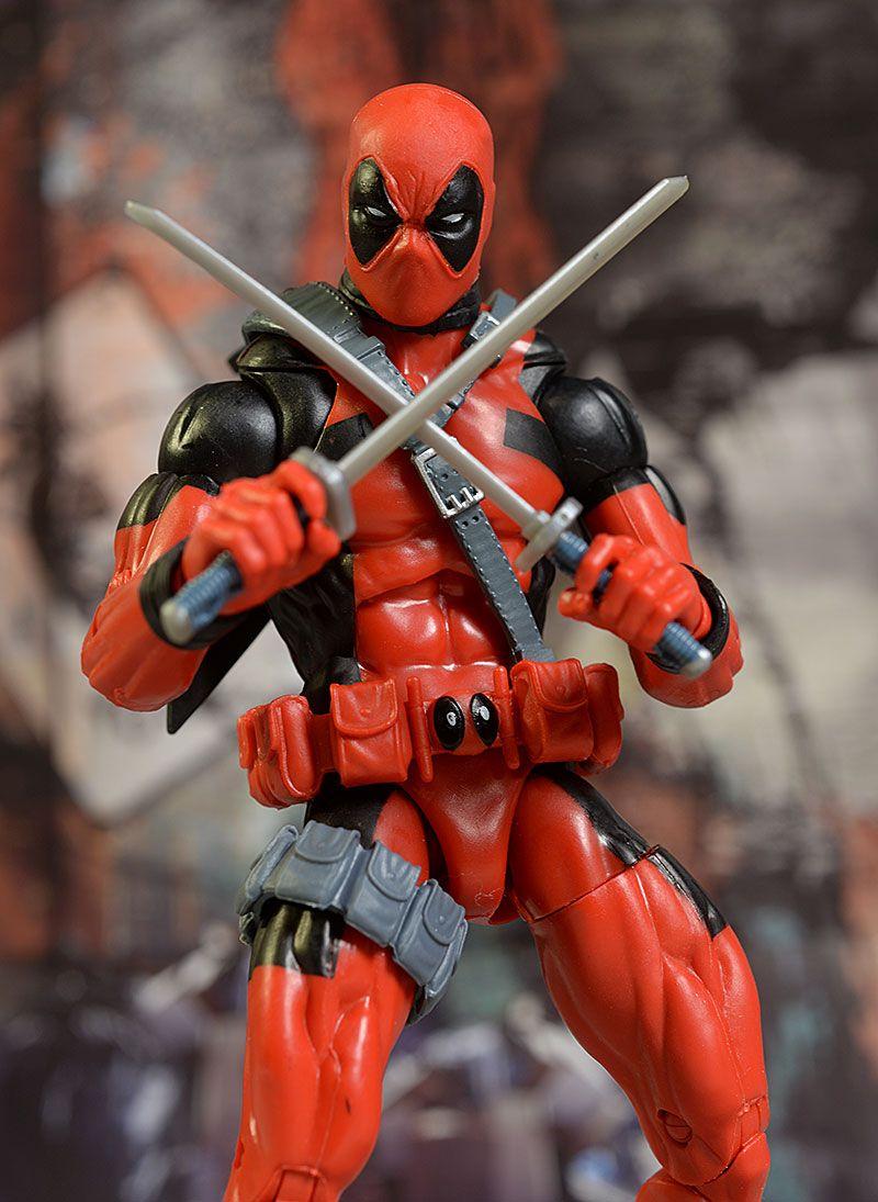 Deadpool marvel legends movie action figure review super
