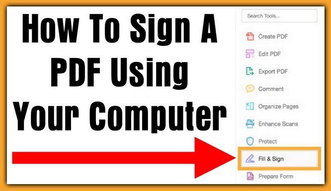 How To Sign A Pdf File Using Your Computer Signs Create Sign