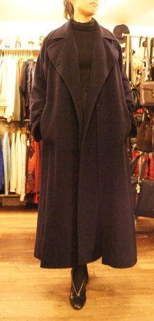 Hermes navy coat : carboots