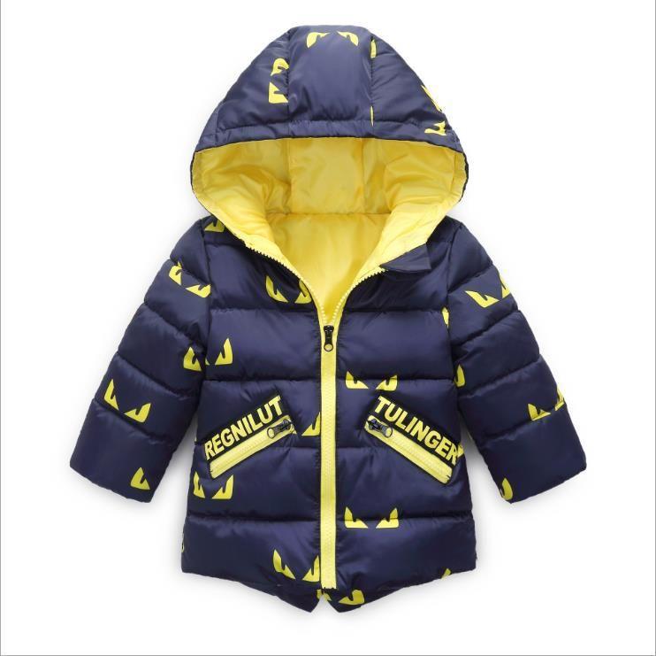 Baby Girls Boys Fashion Winter Warm Cotton Coat Kids Outwear Hoodie Jacket US