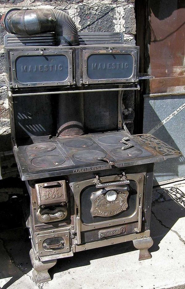 Majestic Wood Stove Cooking Wood Burning Cook Stove Antique Wood Stove