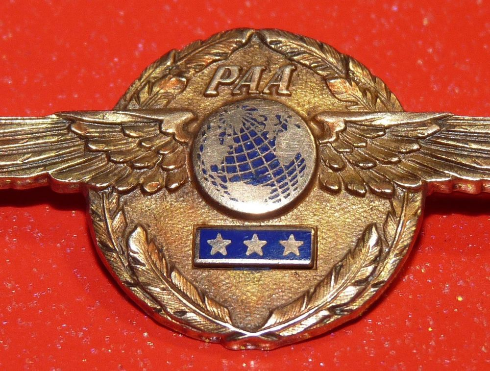 Vintage Pan Am Airlines Pilot 10k Gold Wings Paa Pan American Airways Wings Vintage Airlines Pan American Airways Pan Am
