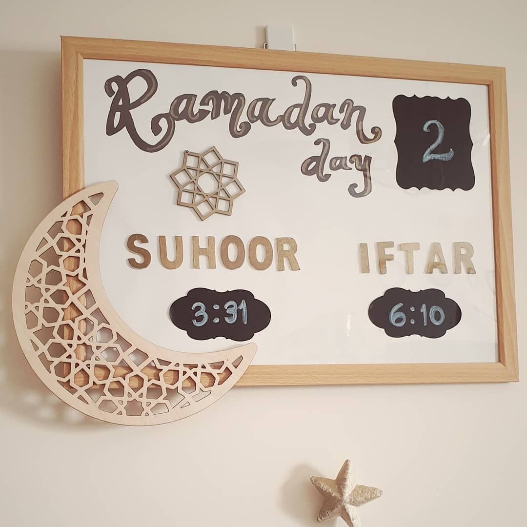 "Marce on Instagram: ""I'm not very good with crafts, let alone lettering but this diy was easy and alhamdulillah it serves it purpose. For this I used a frame,…"""