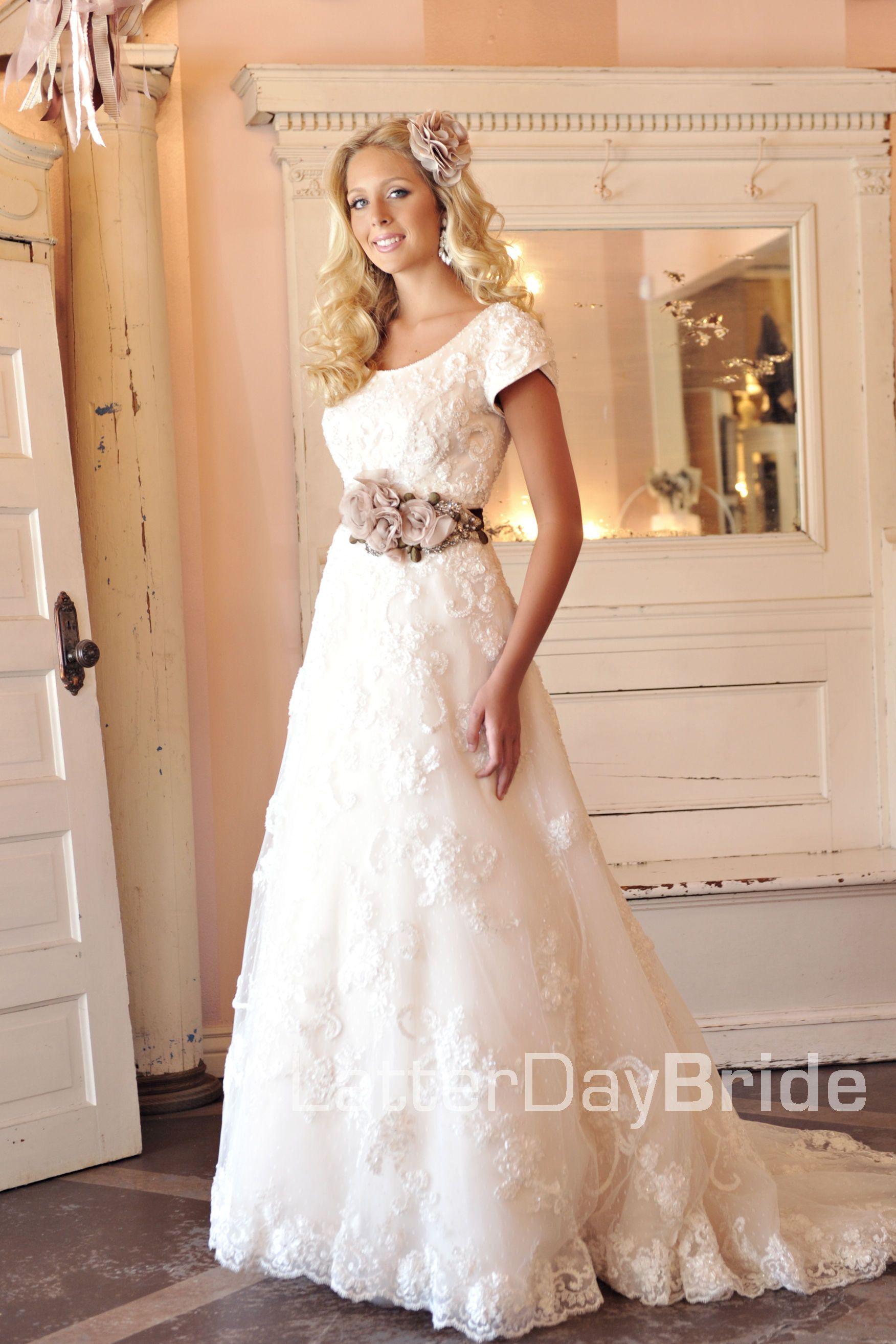 Modest wedding dress evangeline latterdaybride u prom i like the