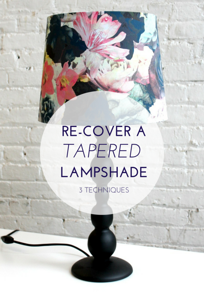 Learn How To Re Cover A Tapered Cone Shaped Lampshade 3 Techniques Depending On What Kind Of Condition Your Is In Replace The Fabric