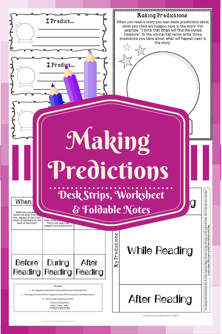 Making Predictions Worksheet Foldable Notes Writing Strips