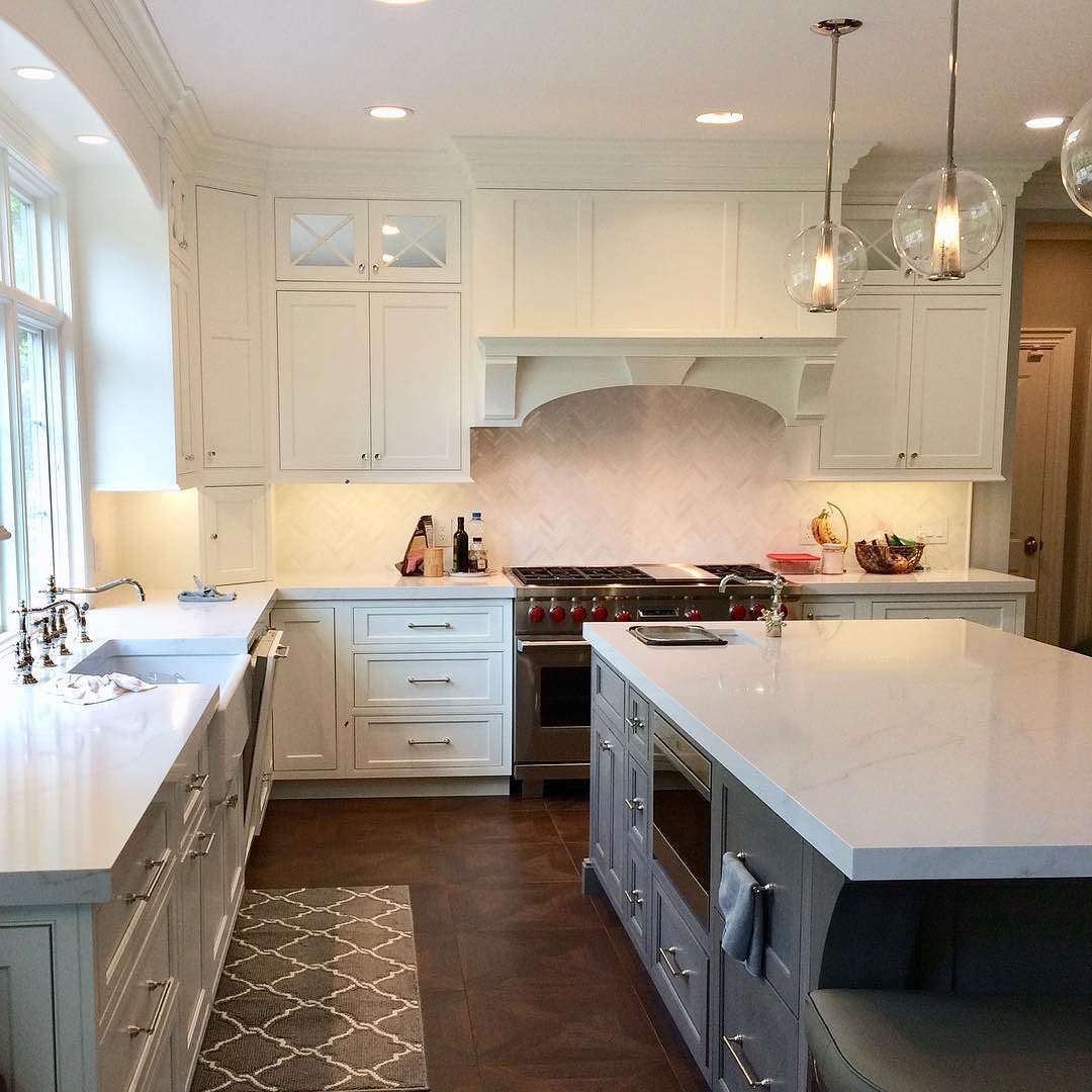 Custom flush beaded inset kitchen cabinetry with solid ...