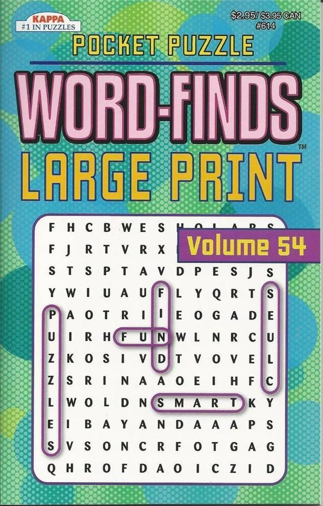 POCKET PUZZLE WORD FINDS LARGE PRINT WORDSEARCH KAPPA