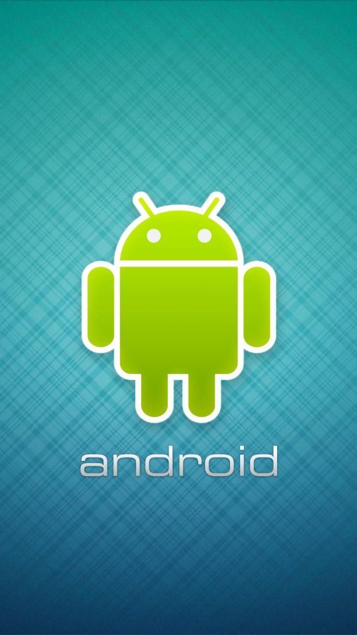Android Robot Logo Center Wallpaper for Mobile 720x1280 Mobile