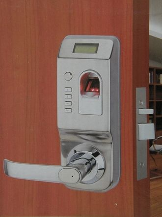 Biometric Lock Is Among The Most Secure And Efficient Security Locking System Found Today It Is A Door Security System Security Door Security Cameras For Home