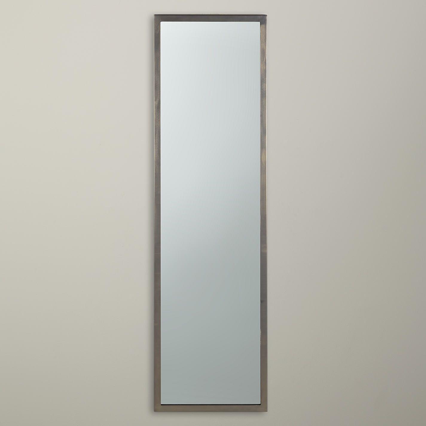 Pewter Finish Full Length Mirror, 107 x 31cm | Hall mirrors, John ...