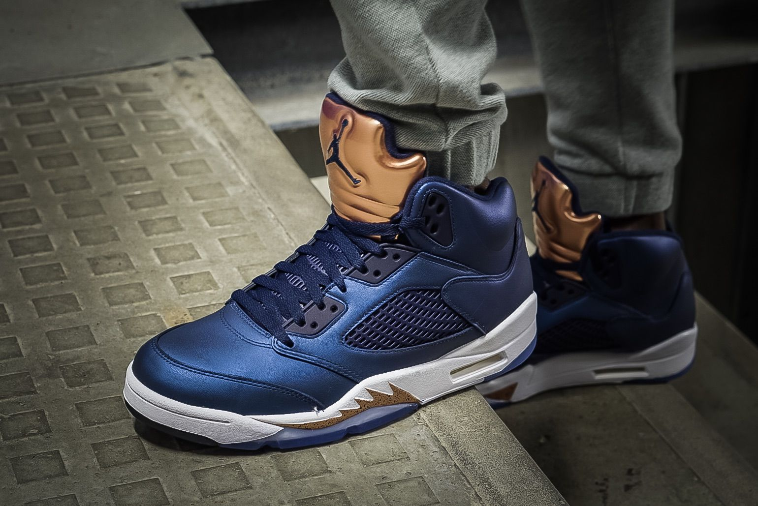 On Feet Images Of The Air Jordan 5 Bronze