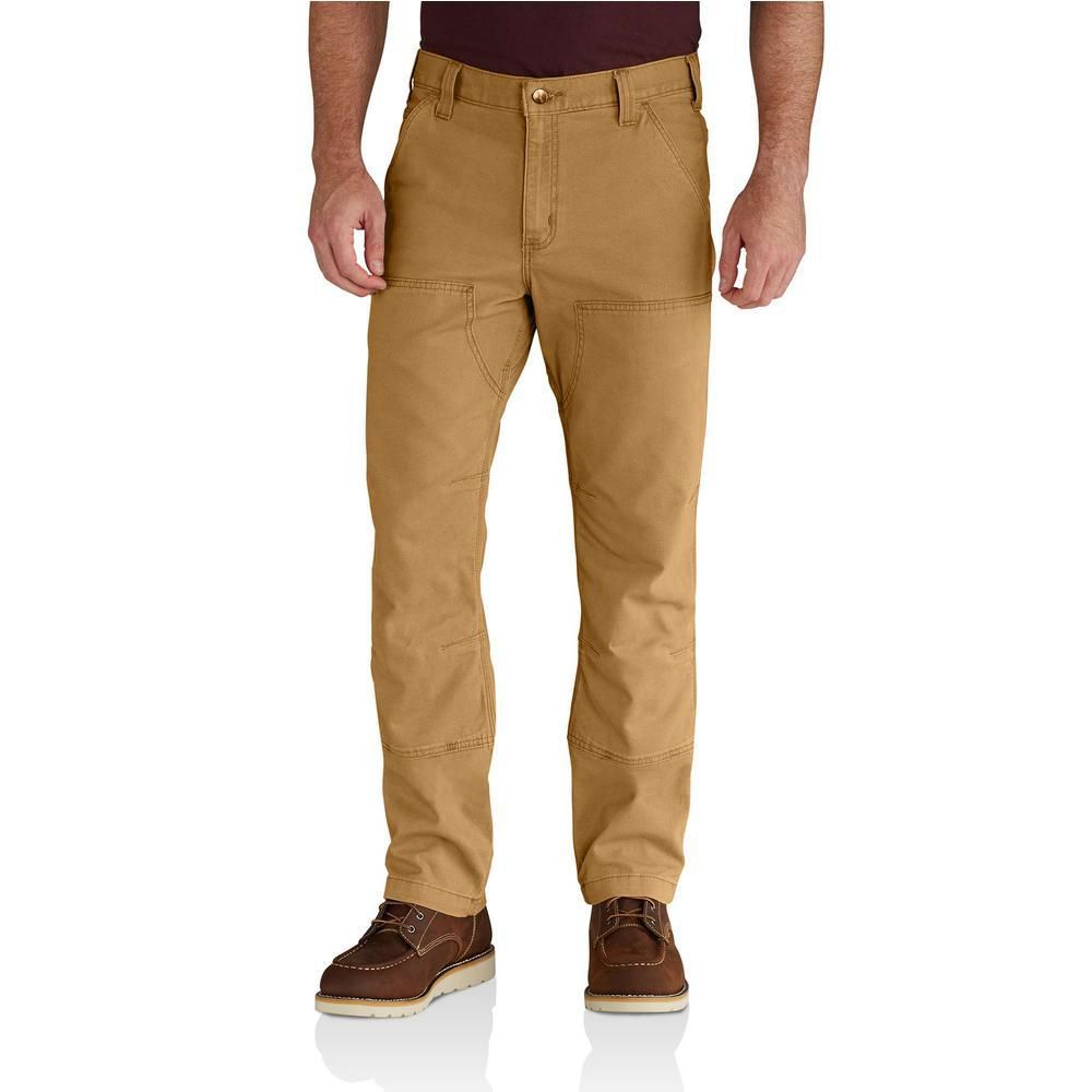 Carhartt Men's 33 In. X 36 In. Hickory Cotton/Spandex