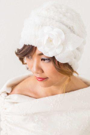 pretty winter hat by marianna lanzilli http://weddingwonderland.it/2015/11/6-look-per-spose-non-convenzionali.html