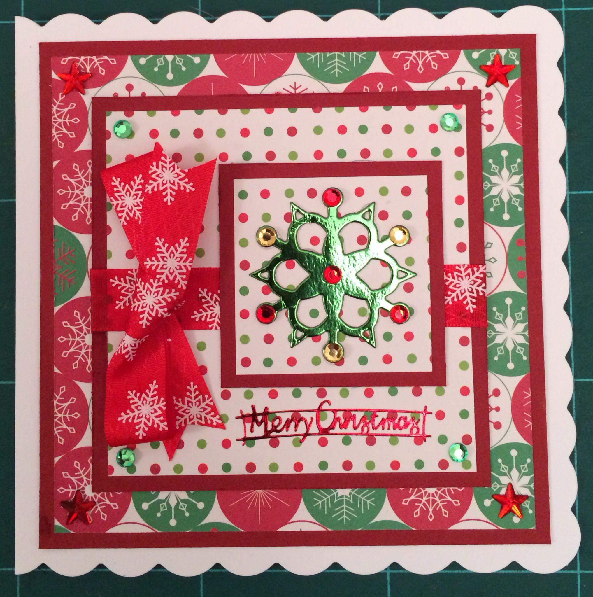 Handmade Snowflake Christmas Card Handmade Greeting Cards Pinterest