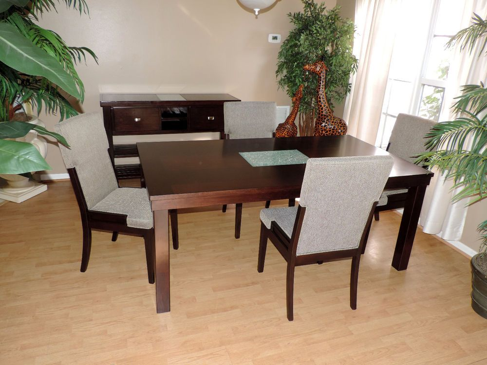 Contemporary Dining Furniture Sets with 6 Pieces