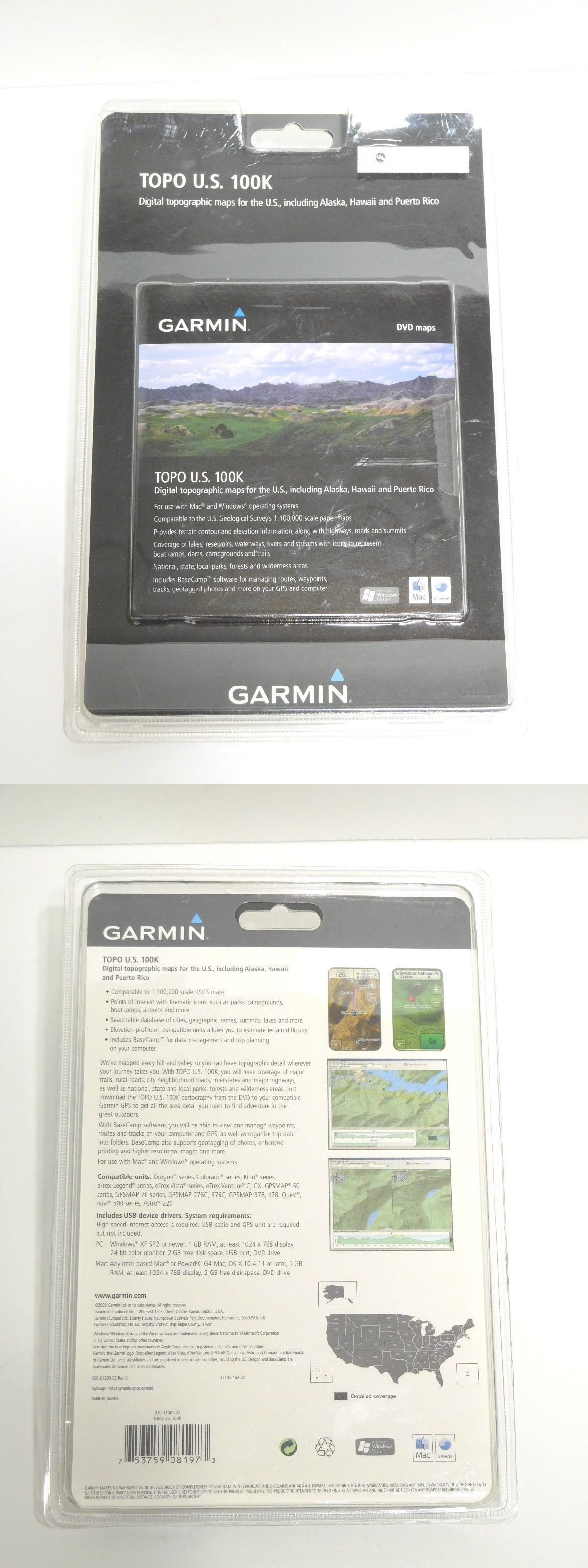 GPS Software and Maps: Garmin Us Topo 100K Digital Topographic Maps ...