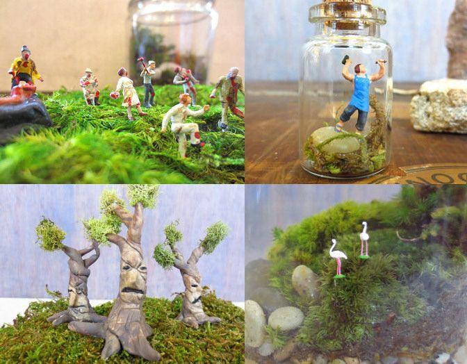 DIY Terrariums DIY And Tutorial Links Minatures Pinterest - Amazing diy non living terrarium