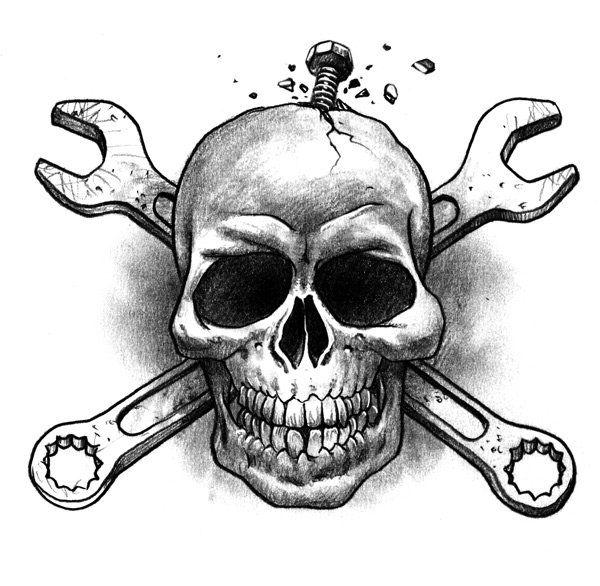 Snake S Garage Skull Art Drawing Skull Artwork Skulls Drawing
