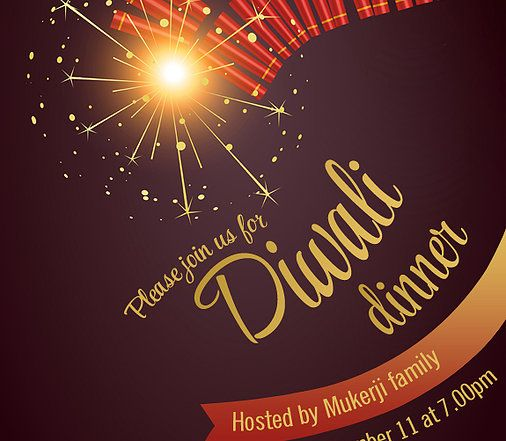 Diwali dinner invitation sparkle and crackers free diwali diwali dinner invitation sparkle and crackers stopboris Gallery
