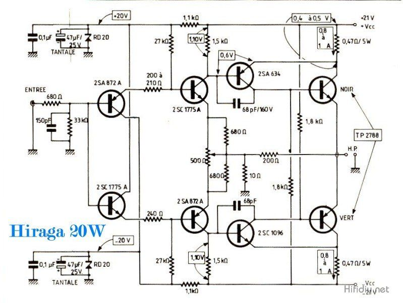 jean hiraga super 20w class a amplifier schematic jpg