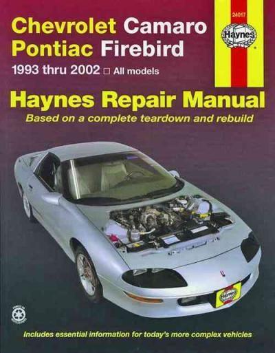view larger image chevrolet camaro pontiac firebird 1993 2000 haynes rh pinterest com 2000 camaro z28 service manual 4 Speed Manual Transmission 62 Chevy
