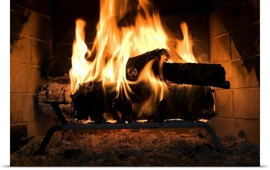 Details About Fire In Fireplace Poster Print Wood Fireplace Gas
