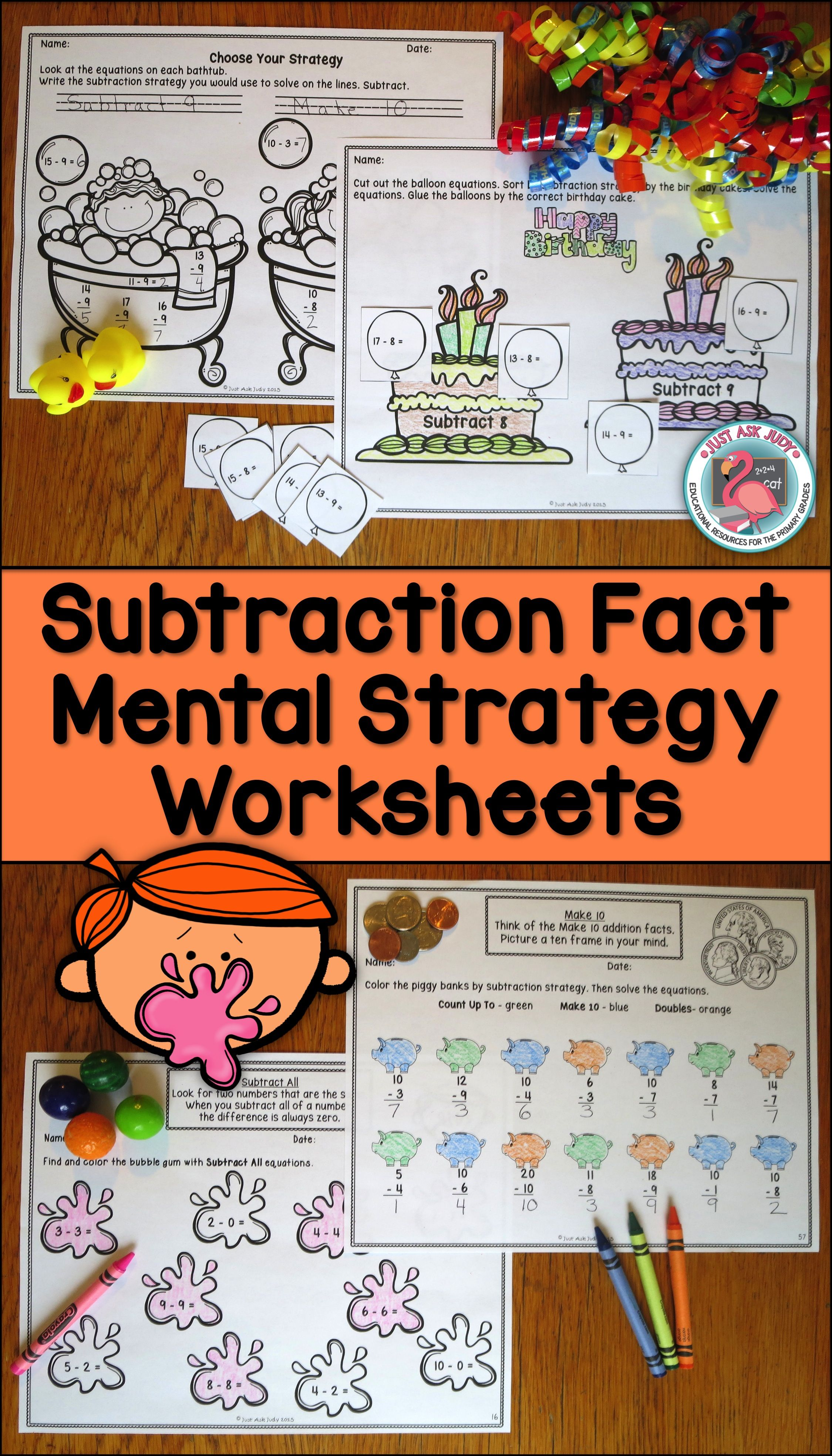This Is A Set Of Systematic Sequential Worksheets To Reinforce Identifying Discriminating And Applying Mental S Subtraction Facts Subtraction Math Resources [ 3936 x 2249 Pixel ]