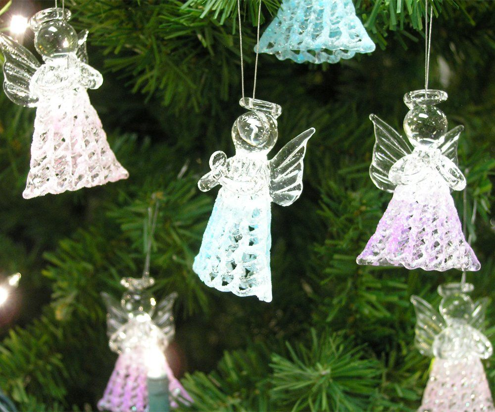 Glass Angel Decorations Set Of 6 Spun Glass Praying Angel Decorations Pi Hanging Christmas Tree Christmas Tree Decorations Diy Best Christmas Tree Decorations