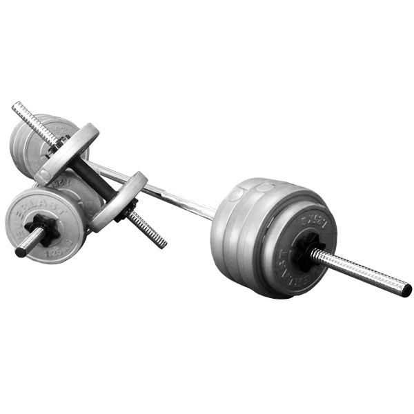 Everlast 25kg Vinyl Adjustable Weight Plate Set with Barbell \u0026 Dumbell Bars in Sporting Goods  sc 1 st  Pinterest & Everlast 25kg Vinyl Adjustable Weight Plate Set with Barbell ...
