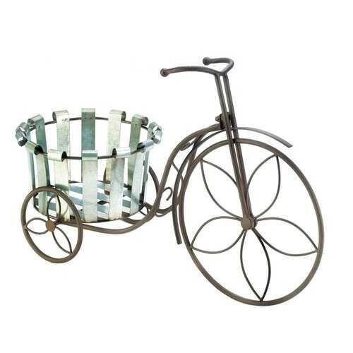 Galvanized Bucket Bike Plant Stand