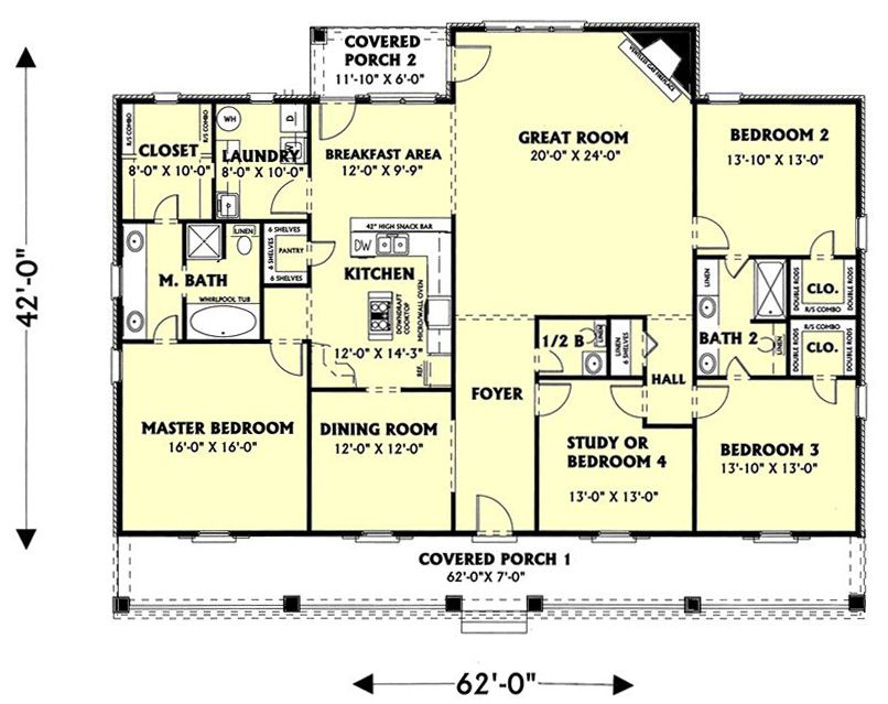 Old Southern House Plans Floor Plan image of The Southern Spirit