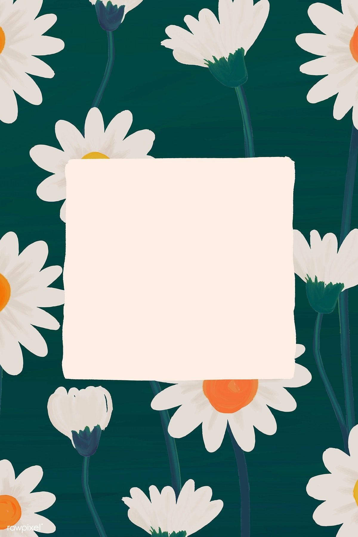 Download Premium Vector Of Rectangle Daisy Frame Vector 1229984 In 2020 Aesthetic Iphone Wallpaper Cute Wallpapers Photo Collage Template