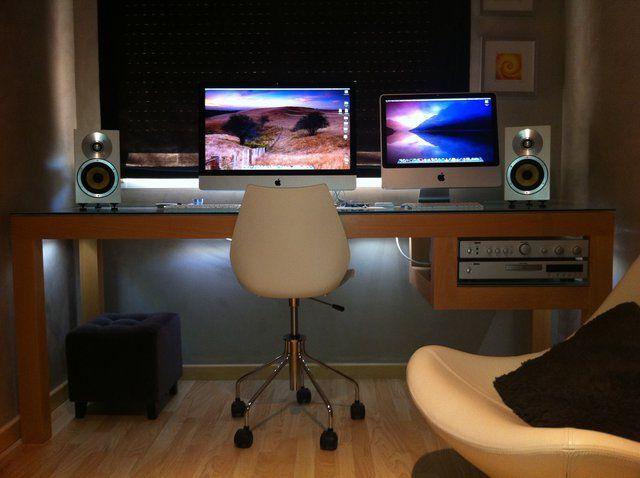 stylish office desk setup. Stylish Office · Fancy - Bowers \u0026 Wilkins CM1 Speakers Desk Setup L